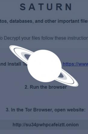 New Saturn Ransomware Actively Infecting Victims Image