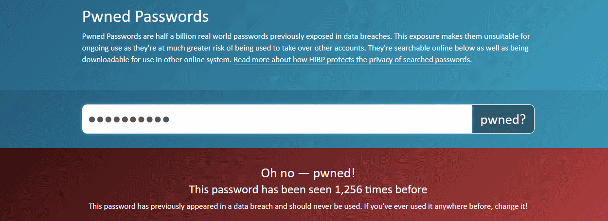 HIBP Pwned Passwords