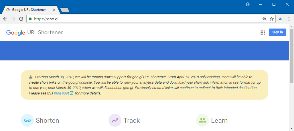 Google Shuts Down Goo.gl URL Shortening Service