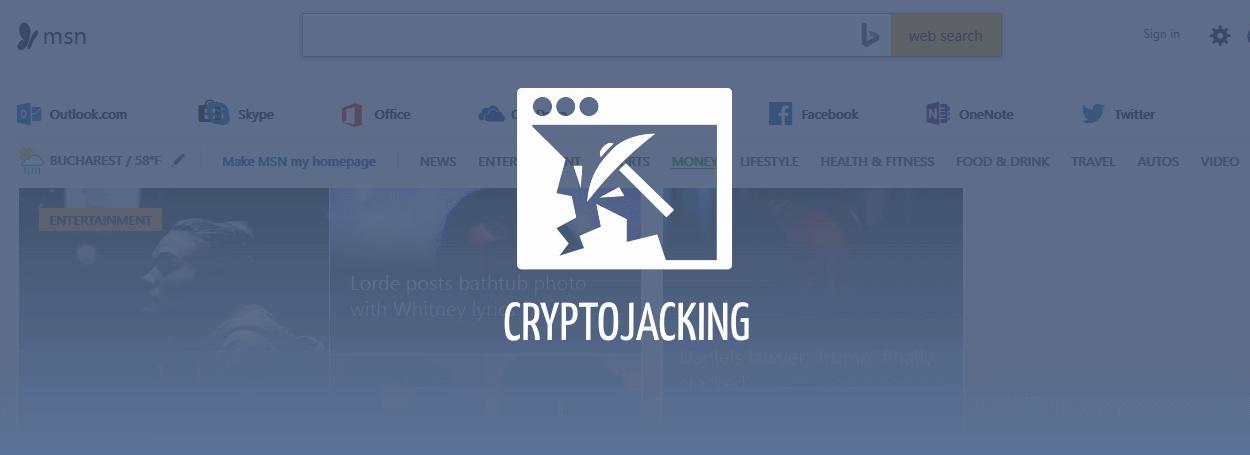 MSN cryptojacking