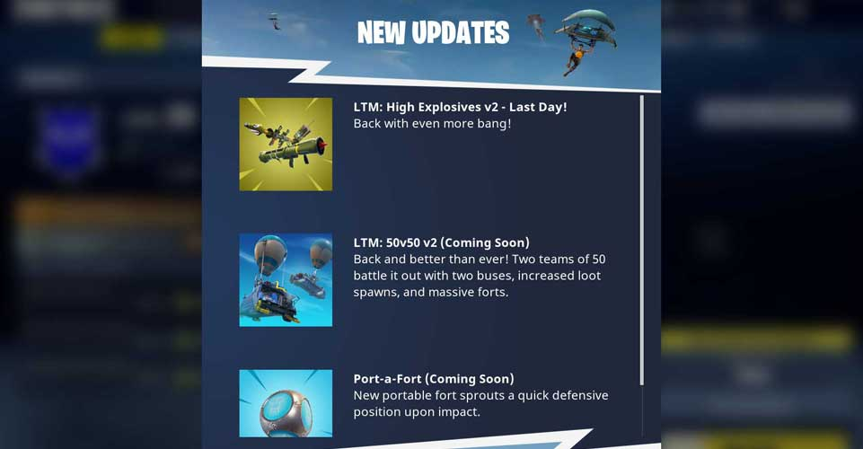 1840949989d Fortnite 3.5 out Tomorrow With Port-a-Fort Hinted As Included ...