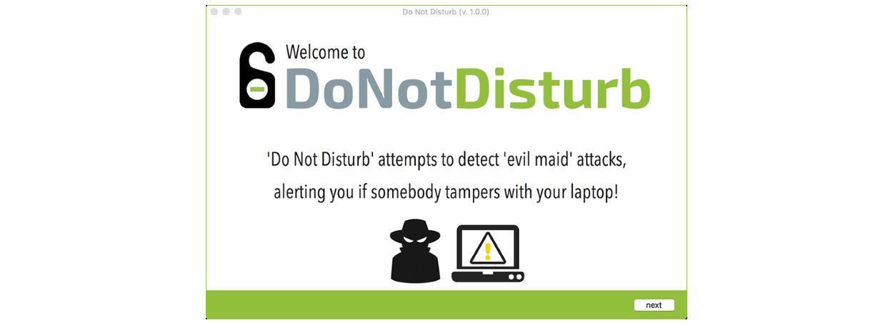 Do Not Disturb app