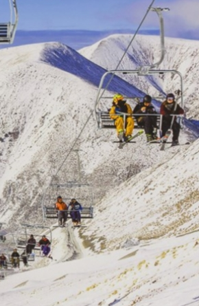 Ski Lift in Austria Left Control Panel Open on the Internet Image