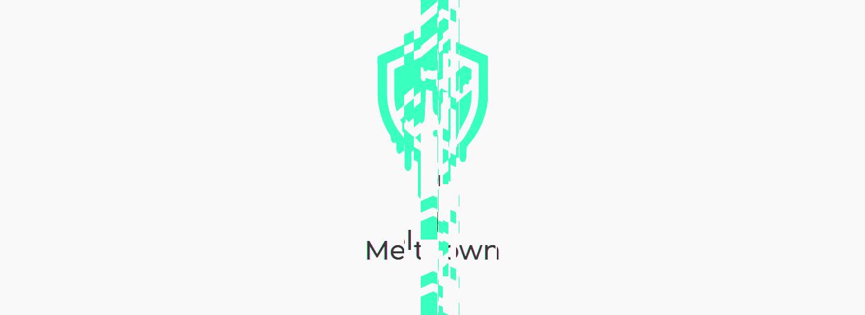 Meltdown warped logo