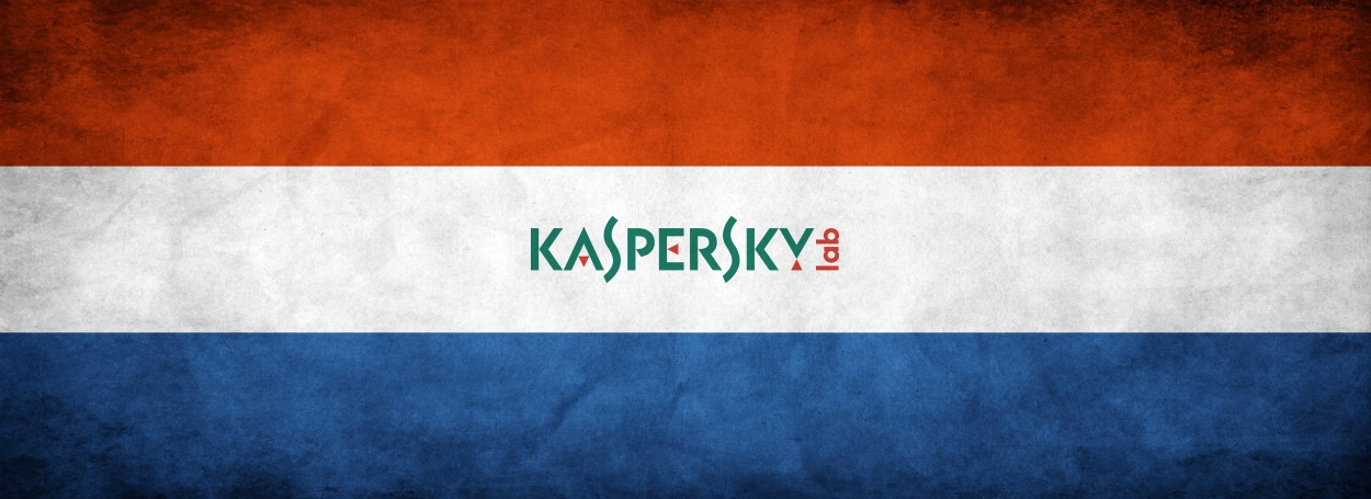 Netherlands flag and Kasperksy Lab logo