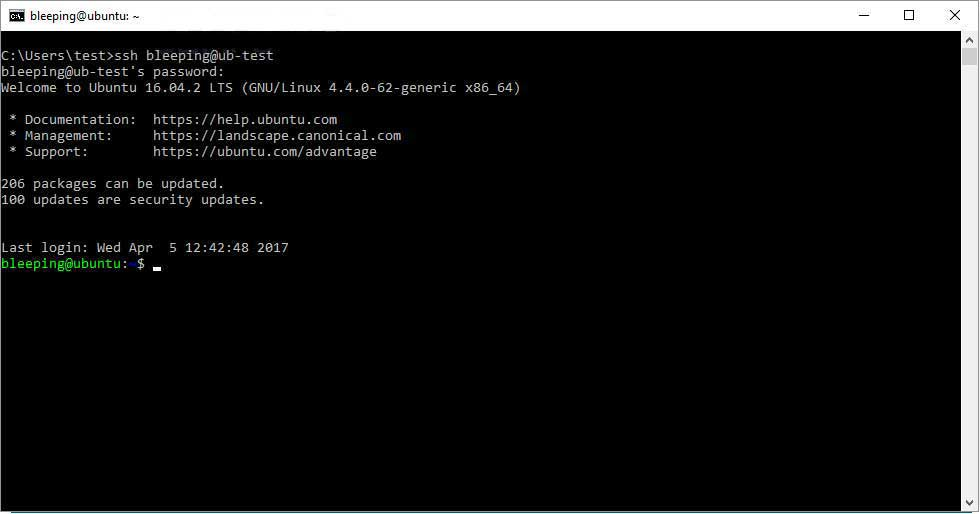 Windows 10 OpenSSH Client Installed by Default in April 2018 Update