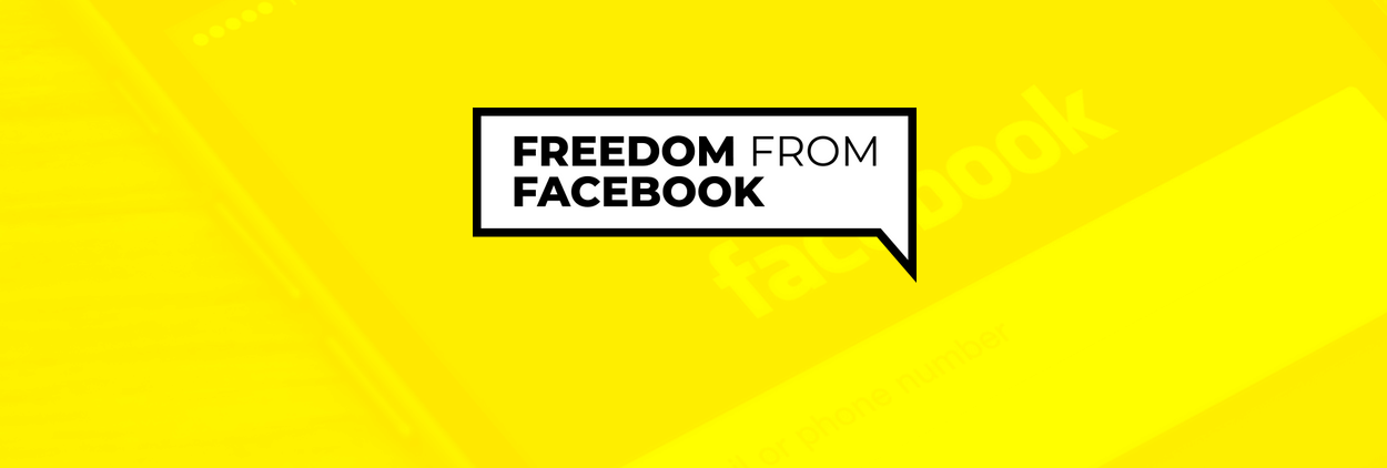 Freedom from Facebook campaign logo