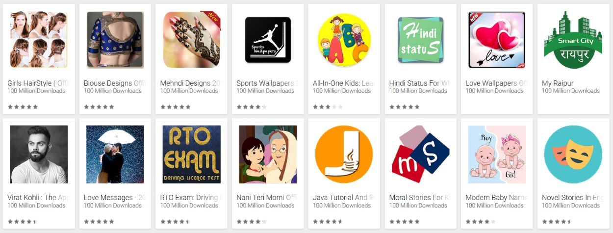 Android apps with misleading developer names