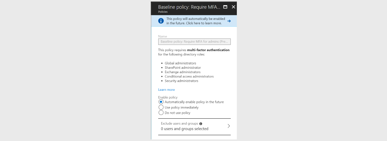 microsoft forcing multi factor authentication on azure ad admin accounts