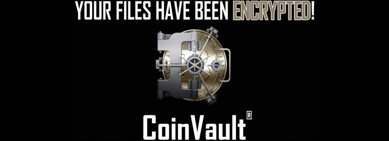CoinVault ransomware wallpaper