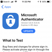 Microsoft Authenticator Beta 5.9.4 for iOS Released on TestFlight Image