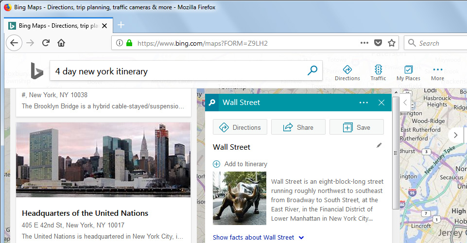 Microsoft Is Updating Bing Maps With Customized Itineraries ...