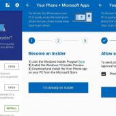 New version of Windows 10 Your Phone app Allows Photo Transfer from Android Image