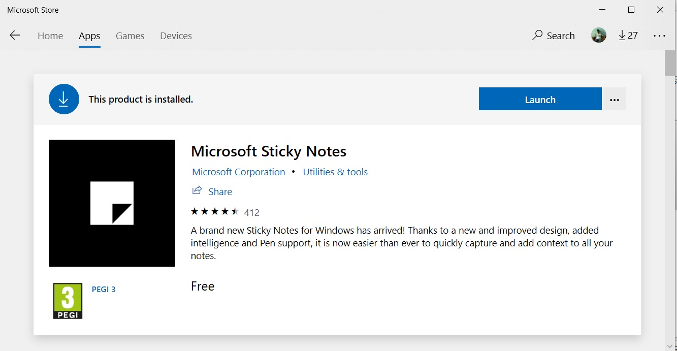 microsoft sticky notes for windows free download