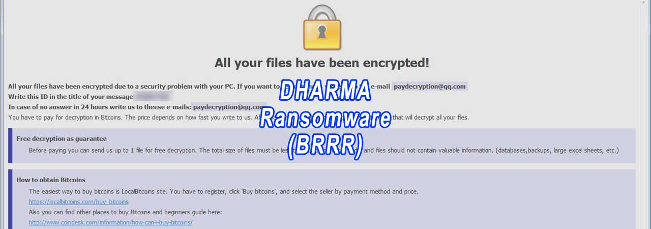 New Brrr Dharma Ransomware Variant Released