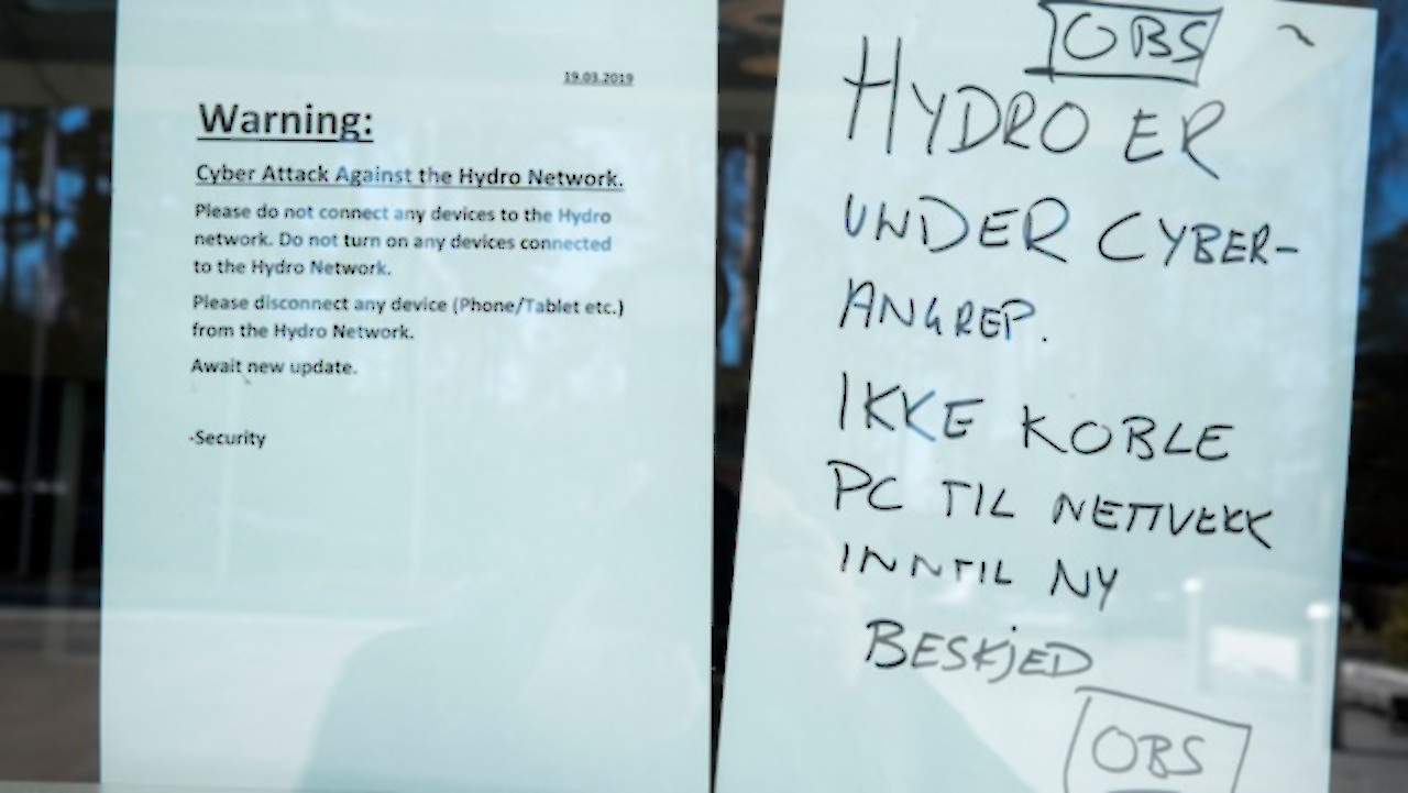 Lockergoga Ransomware Sends Norsk Hydro Into Manual Mode