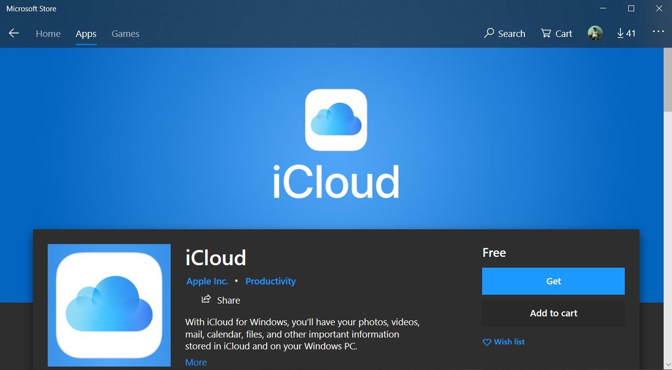 Apple's New Windows 10 iCloud App Now Available in MS Store