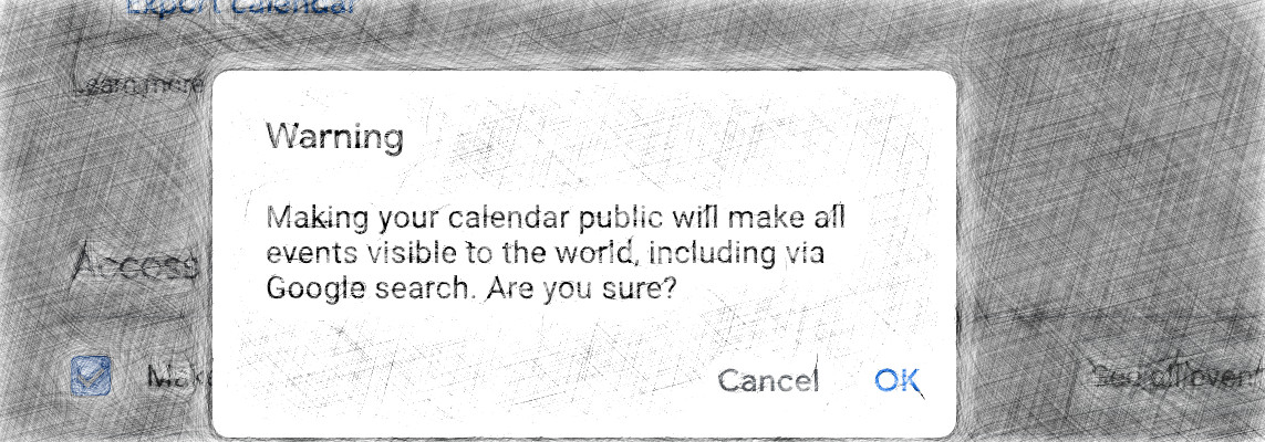Misconfigured Google Calendars Share Events With the World
