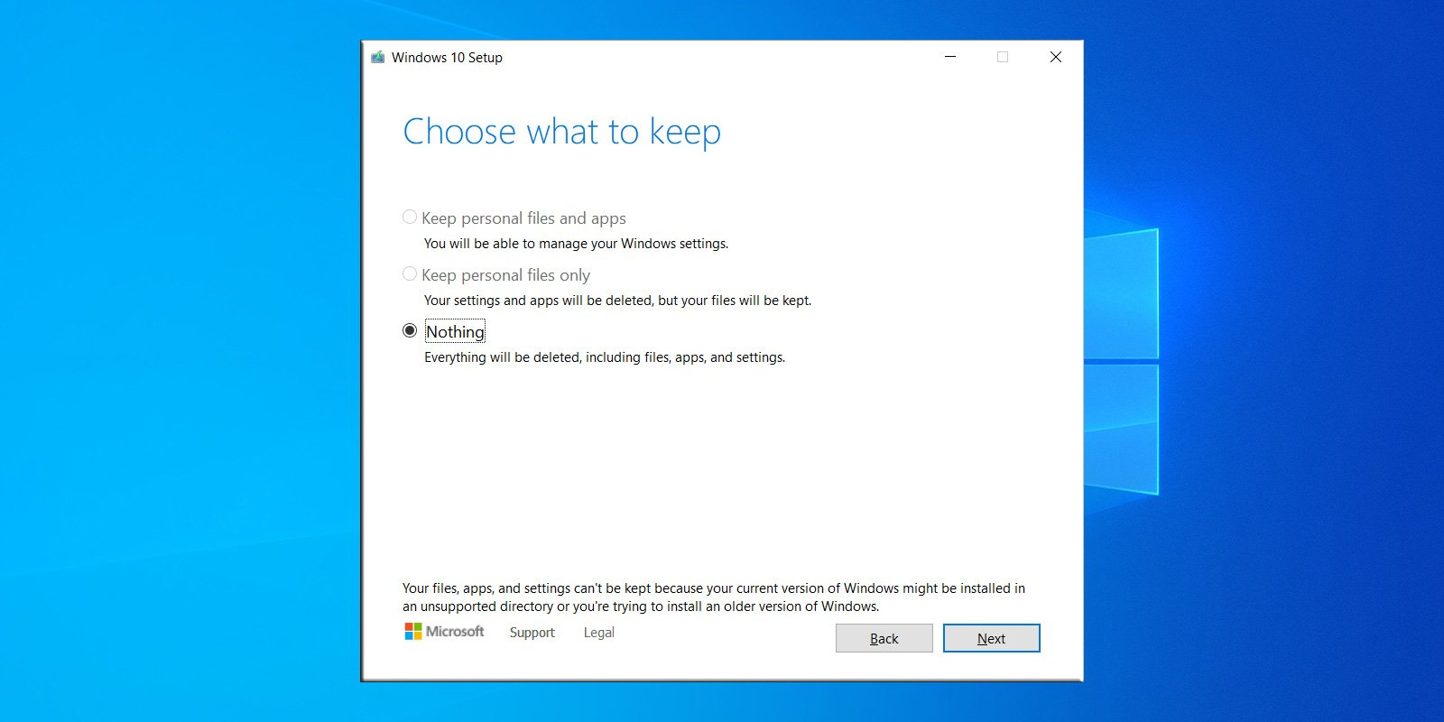 Windows 10 upgrade header