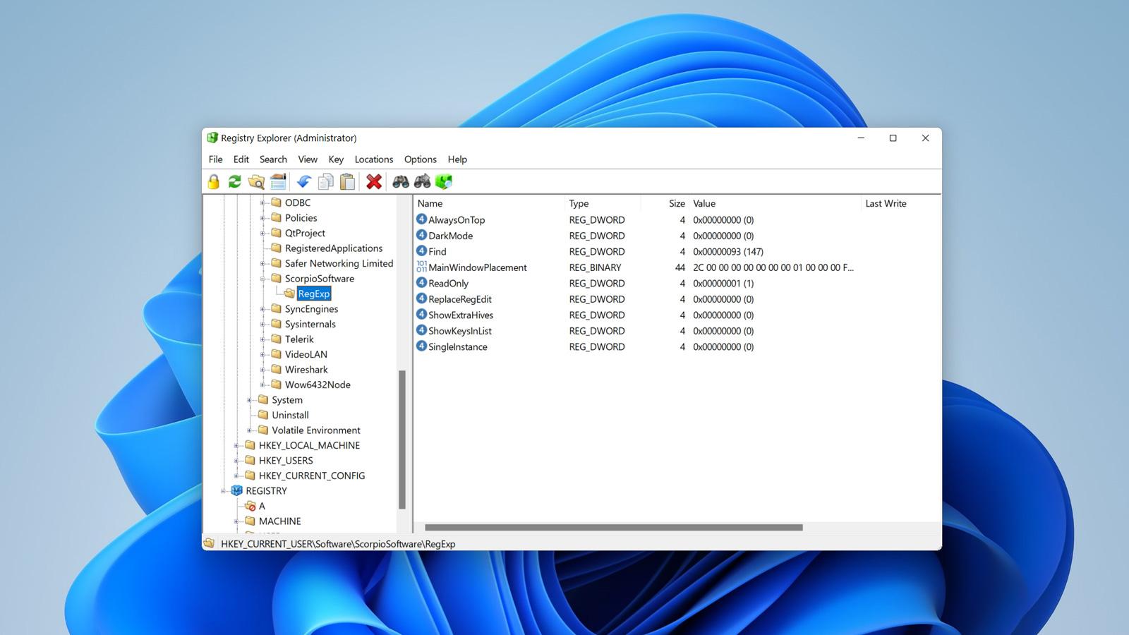 Registry Explorer header image