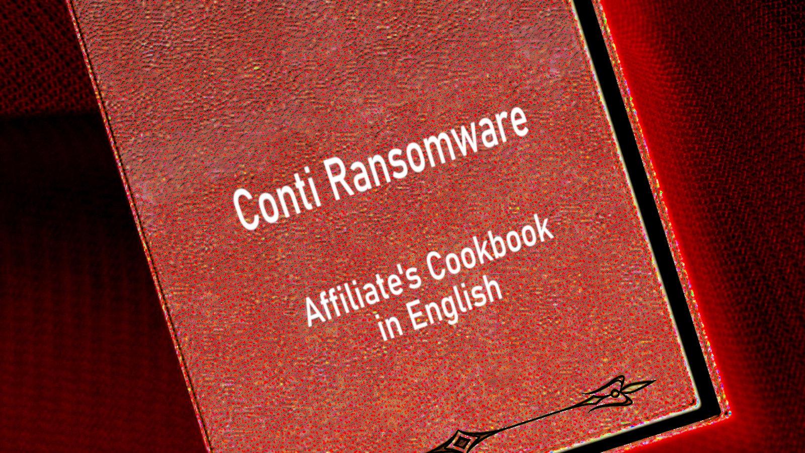 Conti ransomware affiliate's cookbook in English