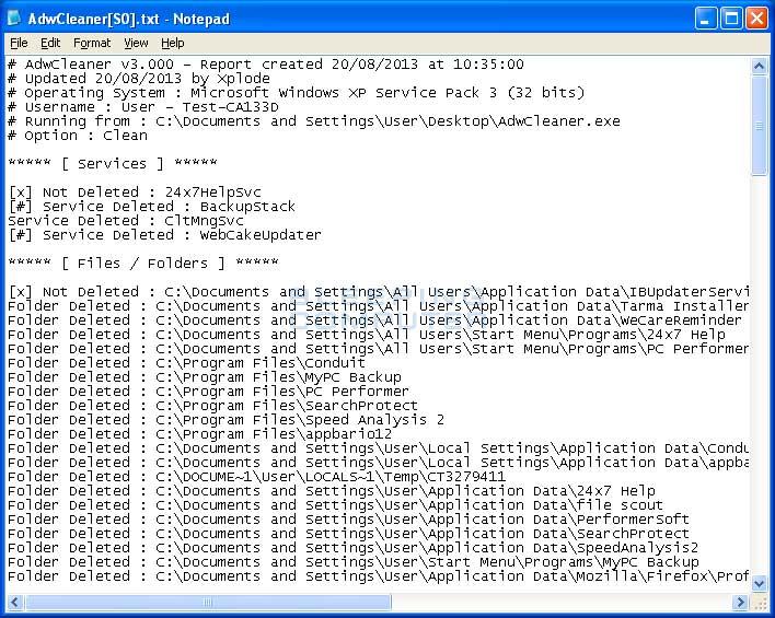 AdwCleaner 3.1 Portable видаляє рекламне ПО