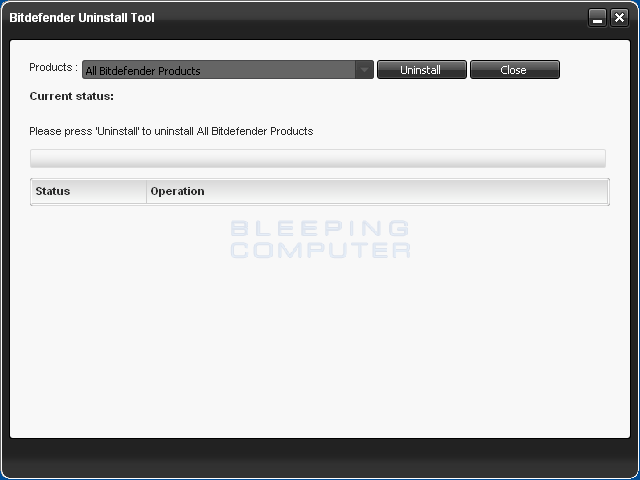 Download BitDefender Uninstall Tool