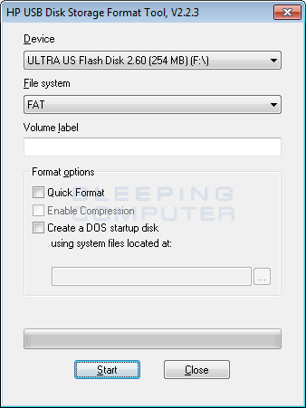 Download HP USB Disk Storage Format Tool