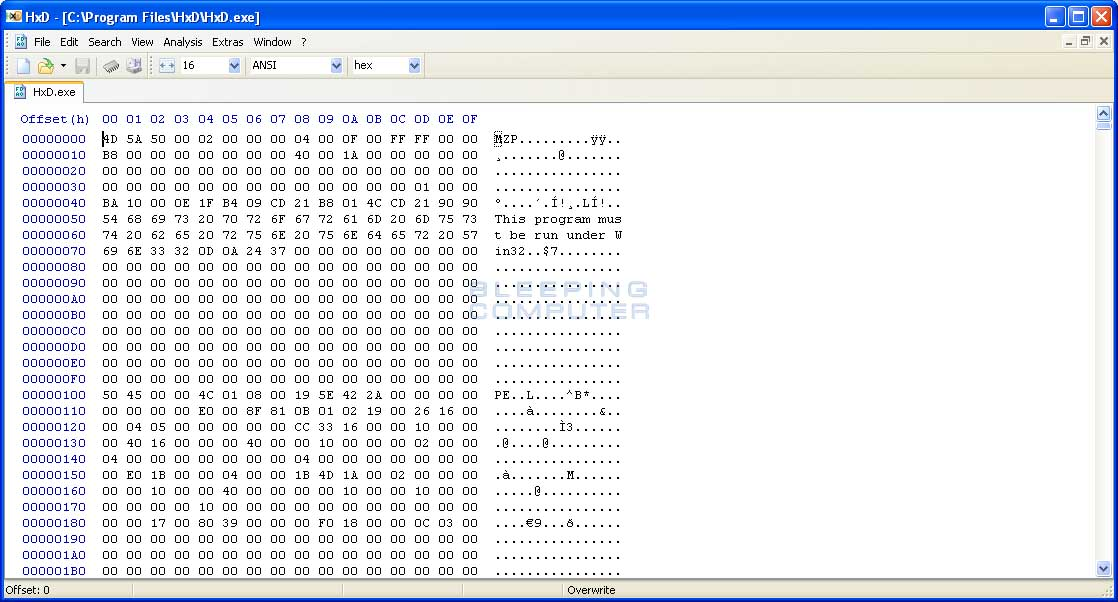 HxD Hex Editor Download
