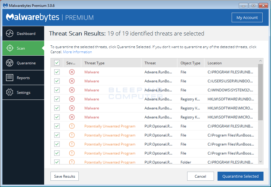 ... malwarebytes anti malware bleepingcomputer review malwarebytes is an