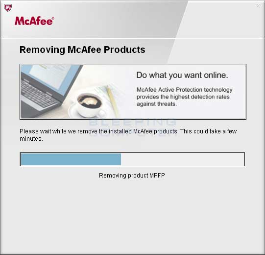 Mcafee uninstall tool