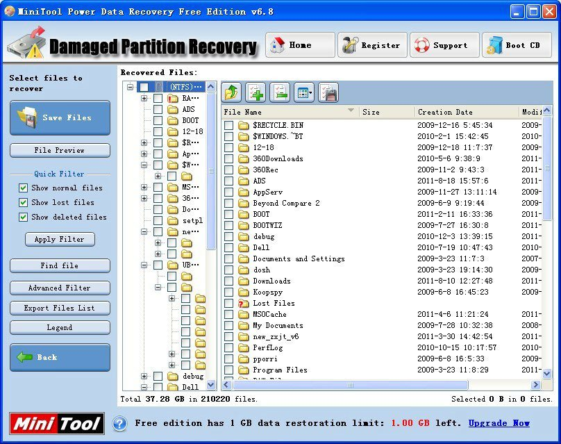minitool data recovery software