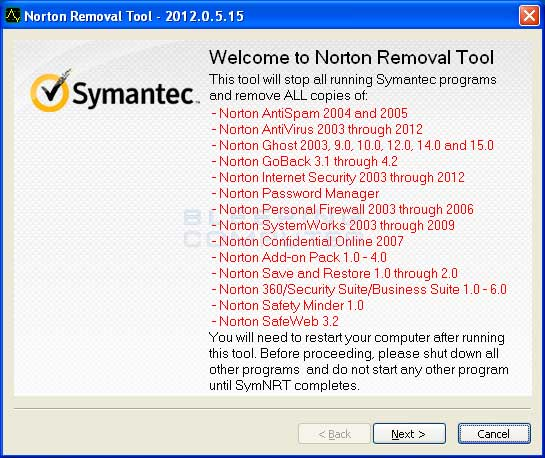 Norton Removal