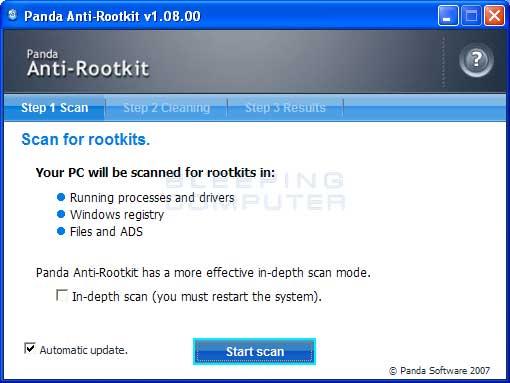 Download Panda Anti-Rootkit