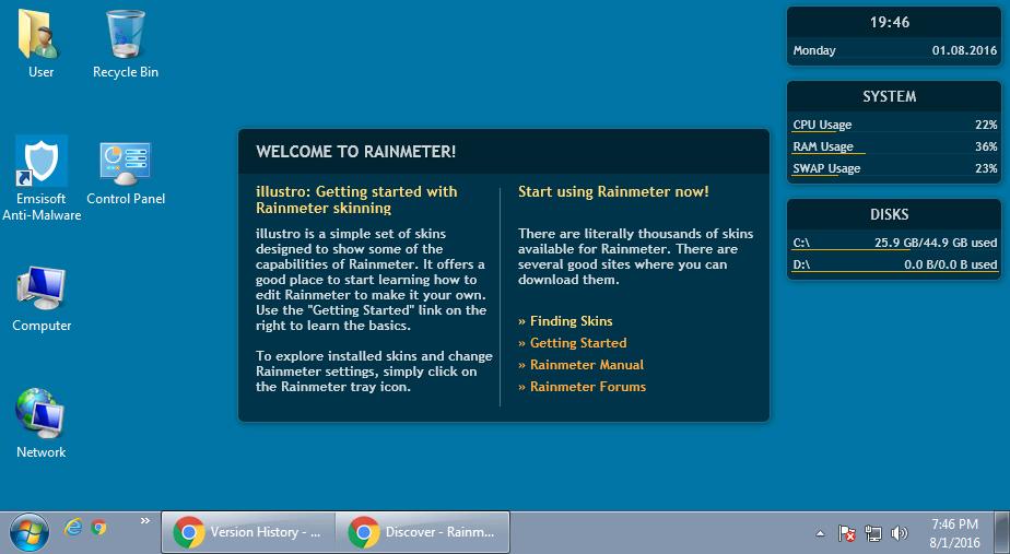 Rainmeter Desktop Customization Tool Download
