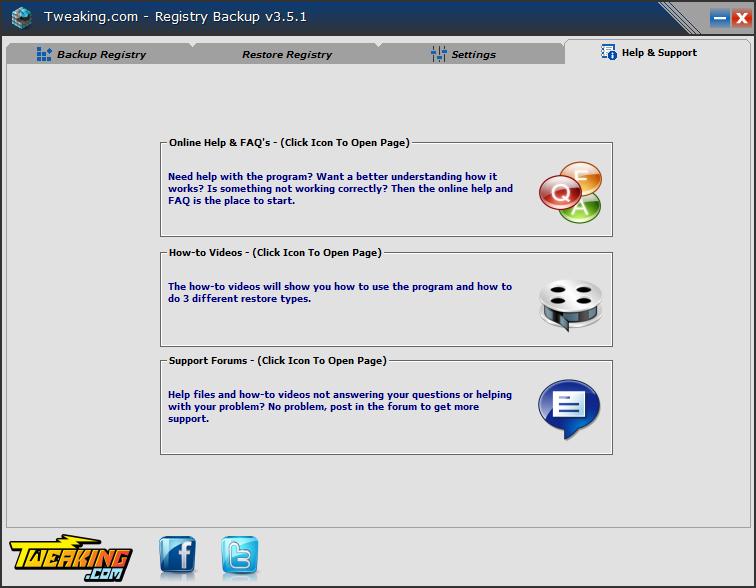 Download Registry Backup