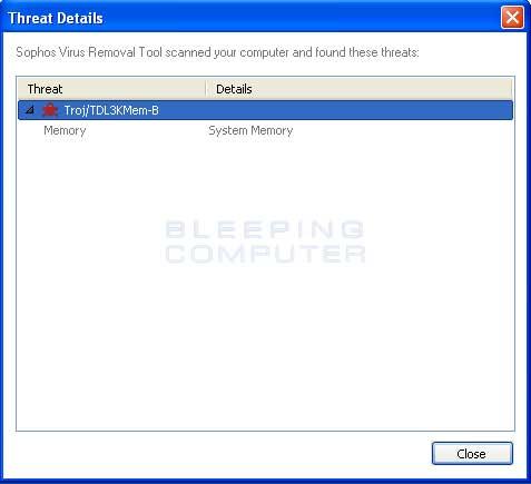Download Sophos Virus Removal Tool