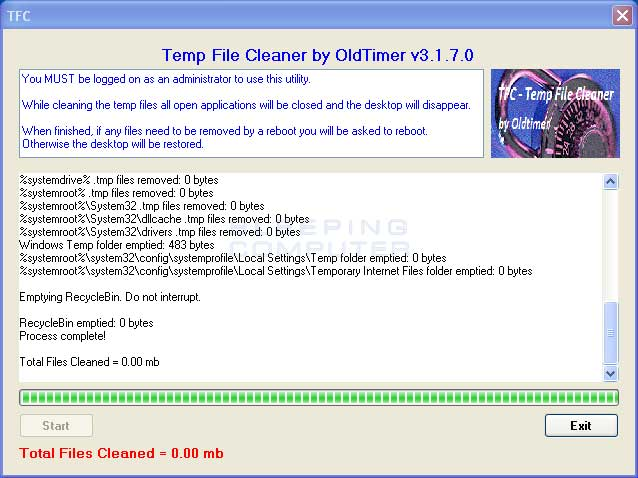 Temp file cleaner 4. 5. 0 download for pc free.