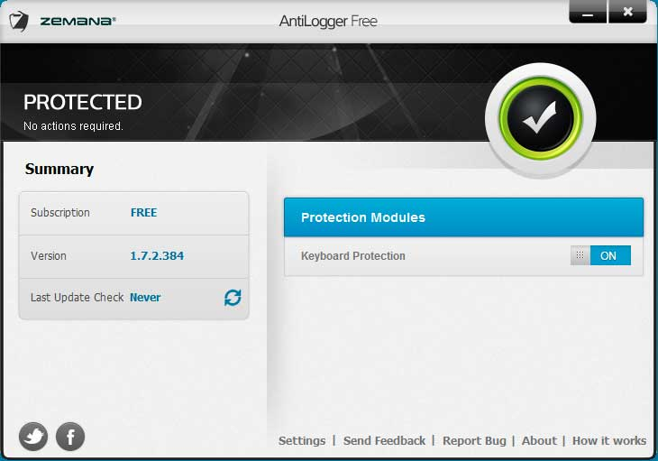Download Zemana AntiLogger Free