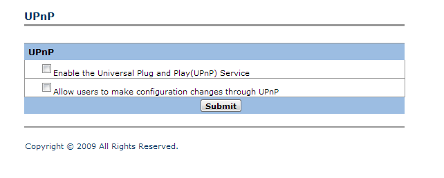 Disable UPnP