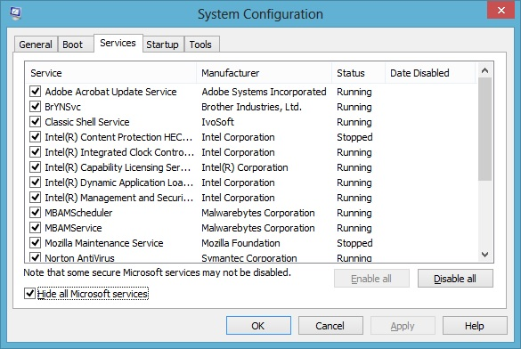 Msconfig Windows 8 1 Filezilla Windows 8 And Windows 8 1