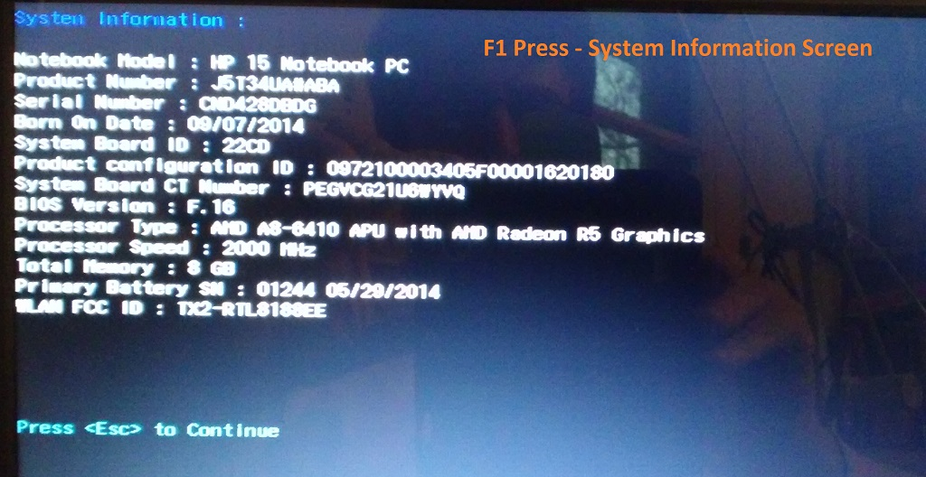 UEFI Boot Example from HP 15 Series Laptop - Windows 10 Support