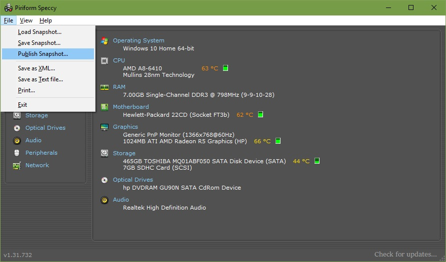 Toshiba M 2 Drive utility - Internal Hardware