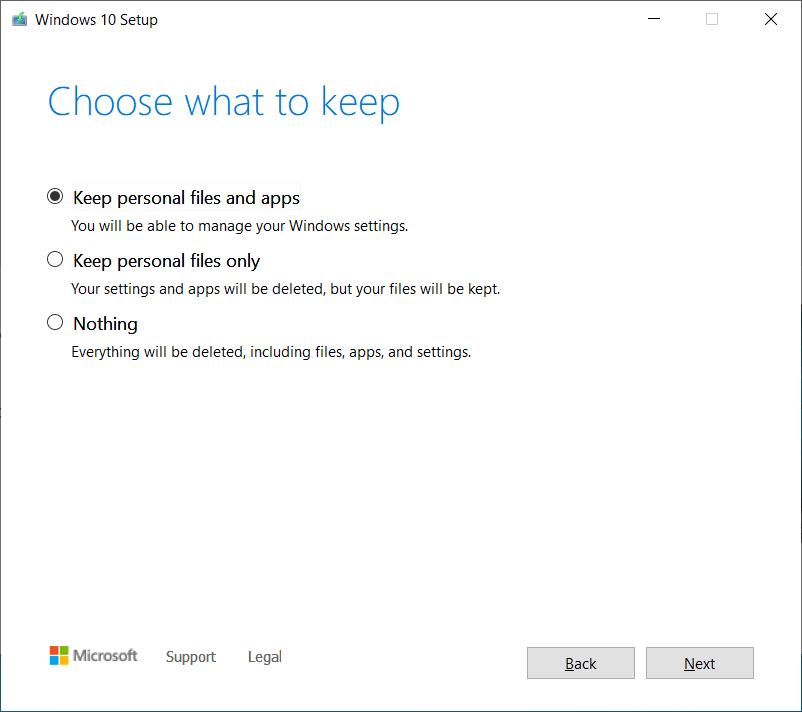 Actualizaciones in situ de Windows 10 20H2 arregladas