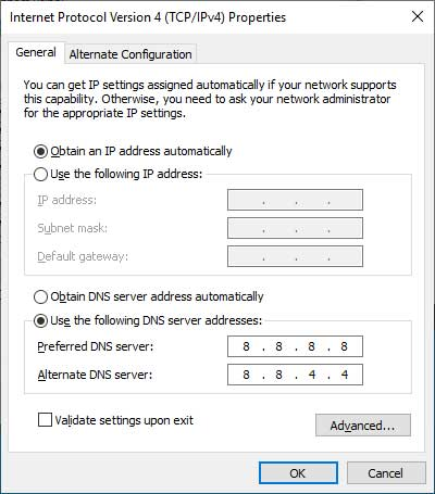 DNS Properties