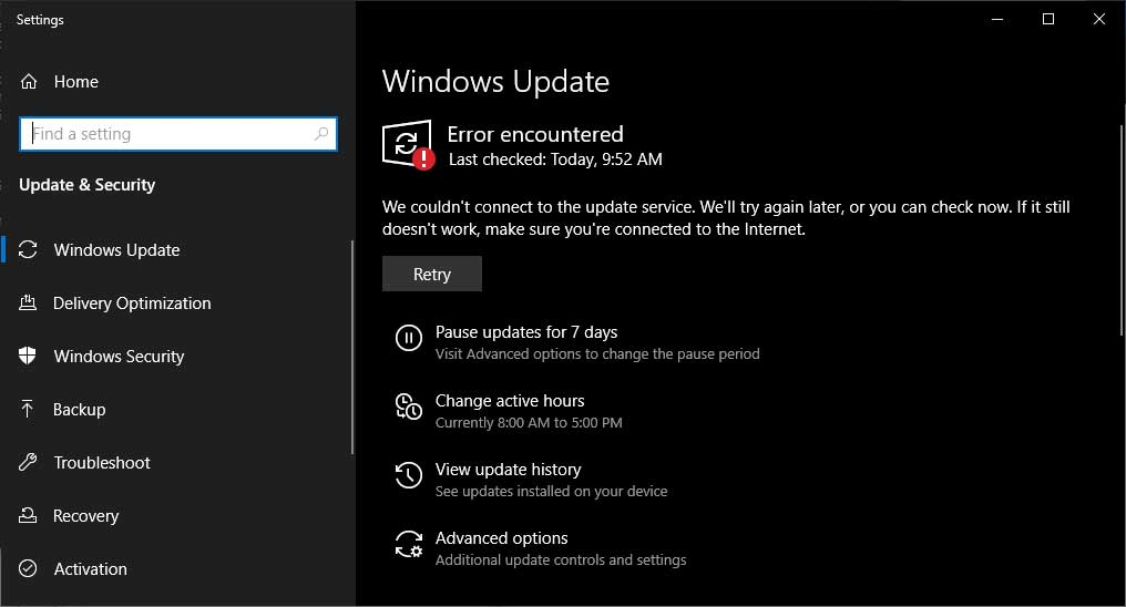 Many Windows 10 Users Unable to Connect to Windows Update
