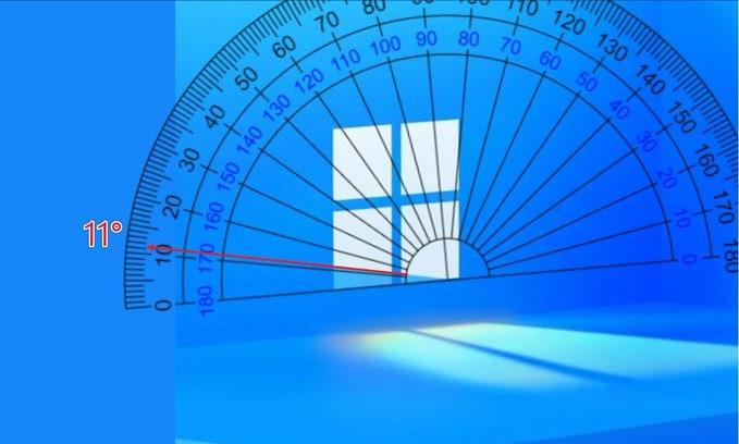 11° on Window logo background