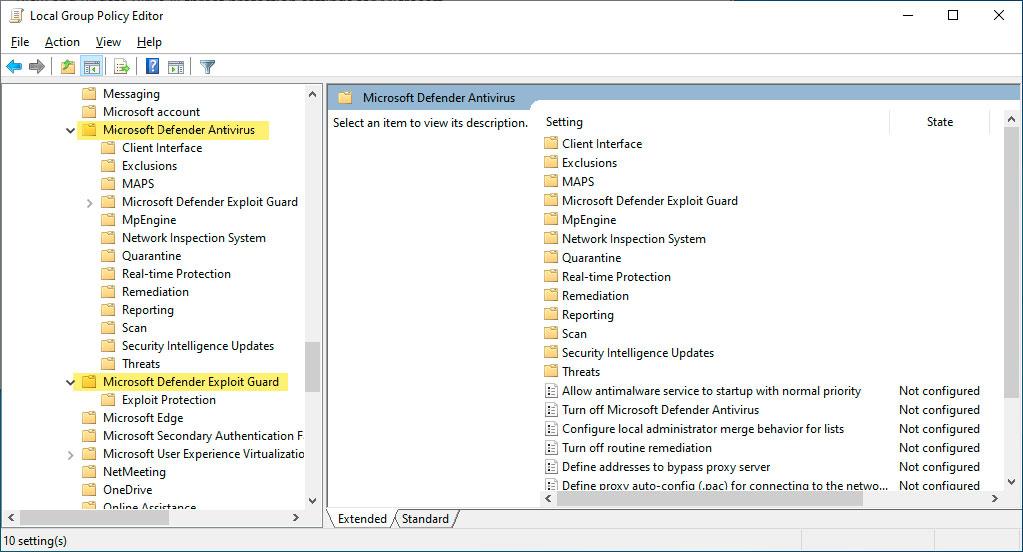 Rebranded under Microsoft Defender in Group Policies