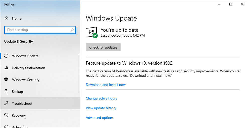10 >> Windows 10 Will Now Notify Users When Version 1903 Is Blocked