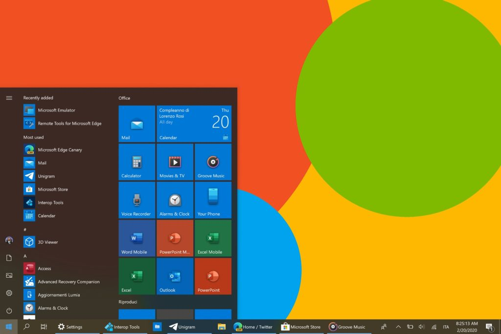 New icons in Windows 10 Insider builds